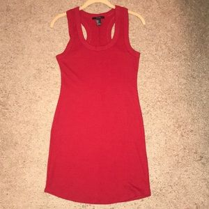 Red Racerback Bodycon Dress